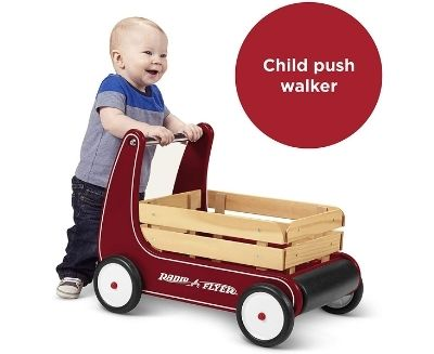 wooden baby walker for kids